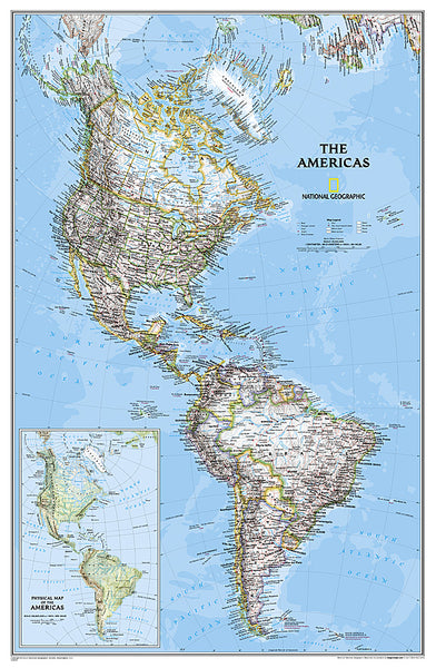 Buy map Americas Classic, Tubed by National Geographic Maps