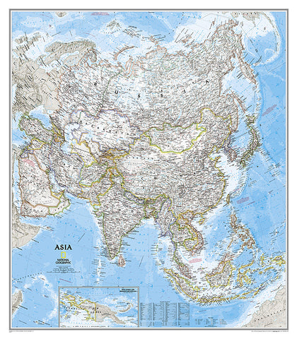 Buy map Asia, Classic, Tubed by National Geographic Maps