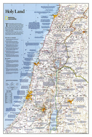 Buy map Holy Land, Sleeved by National Geographic Maps