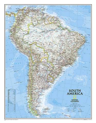 Buy map South America, Classic, Tubed by National Geographic Maps