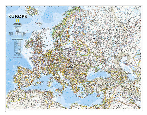 Buy map Europe, Classic, Tubed by National Geographic Maps