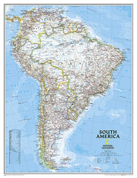 Buy map South America, Classic, Large, Tubed by National Geographic Maps