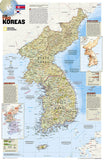 Buy map North Korea/South Korea, The Forgotten War, 2-Sided, Tubed by National Geographic Maps