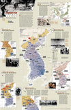 North Korea/South Korea, The Forgotten War, 2-Sided, Tubed by National Geographic Maps - Back of map