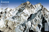 Buy map Mount Everest/Himalayas 50th Anniversary, 2-Sided, Tubed by National Geographic Maps