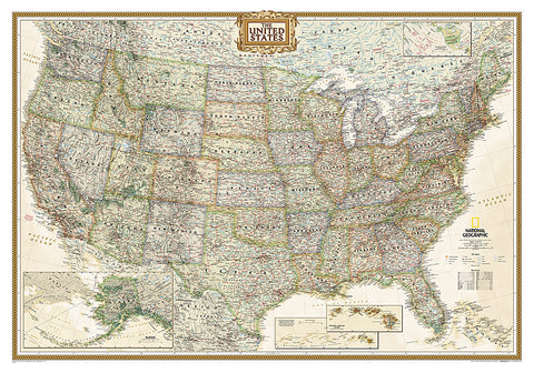 Buy map United States, Executive, Tubed by National Geographic Maps