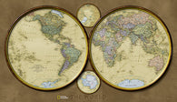 Buy map World, Hemispheres, Tubed Wall Map by National Geographic Maps
