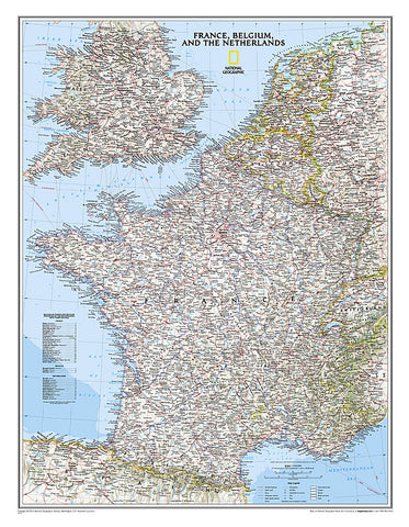 Buy map France, Belgium, Netherlands, Classic, Political by National Geographic Maps
