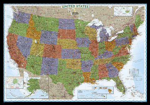 Buy map United States, Decorator, Tubed by National Geographic Maps