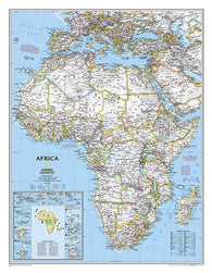 Buy map Africa, Classic, Tubed by National Geographic Maps