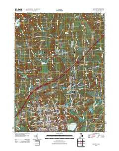 Ashaway Rhode Island Historical topographic map, 1:24000 scale, 7.5 X 7.5 Minute, Year 2012