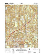 Ashaway Rhode Island Current topographic map, 1:24000 scale, 7.5 X 7.5 Minute, Year 2015 from Rhode Island Map Store