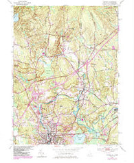 Ashaway Rhode Island Historical topographic map, 1:24000 scale, 7.5 X 7.5 Minute, Year 1984