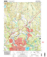 Ashaway Rhode Island Historical topographic map, 1:24000 scale, 7.5 X 7.5 Minute, Year 2001