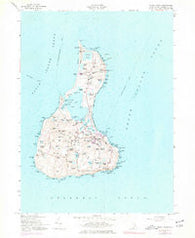 Block Island Rhode Island Historical topographic map, 1:24000 scale, 7.5 X 7.5 Minute, Year 1957