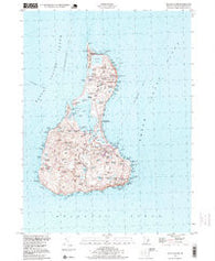 Block Island Rhode Island Historical topographic map, 1:24000 scale, 7.5 X 7.5 Minute, Year 1998