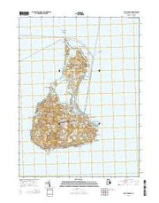 Block Island Rhode Island Current topographic map, 1:24000 scale, 7.5 X 7.5 Minute, Year 2015 from Rhode Island Maps Store