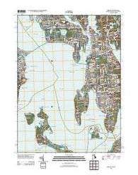 Bristol Rhode Island Historical topographic map, 1:24000 scale, 7.5 X 7.5 Minute, Year 2012