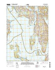 Bristol Rhode Island Current topographic map, 1:24000 scale, 7.5 X 7.5 Minute, Year 2015 from Rhode Island Maps Store