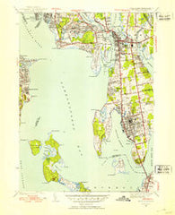 Bristol Rhode Island Historical topographic map, 1:31680 scale, 7.5 X 7.5 Minute, Year 1939