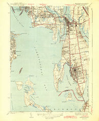 Bristol Rhode Island Historical topographic map, 1:31680 scale, 7.5 X 7.5 Minute, Year 1943