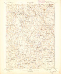 Burrillville Rhode Island Historical topographic map, 1:62500 scale, 15 X 15 Minute, Year 1894