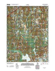 Carolina Rhode Island Historical topographic map, 1:24000 scale, 7.5 X 7.5 Minute, Year 2012
