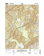 Carolina Rhode Island Current topographic map, 1:24000 scale, 7.5 X 7.5 Minute, Year 2015 from Rhode Island Maps Store
