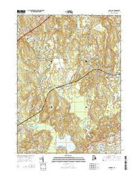 Carolina Rhode Island Current topographic map, 1:24000 scale, 7.5 X 7.5 Minute, Year 2015