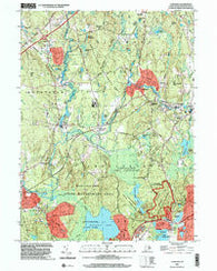 Carolina Rhode Island Historical topographic map, 1:24000 scale, 7.5 X 7.5 Minute, Year 2001