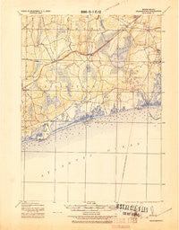 Charlestown Rhode Island Historical topographic map, 1:62500 scale, 15 X 15 Minute, Year 1919