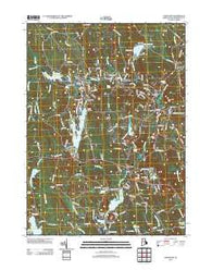 Chepachet Rhode Island Historical topographic map, 1:24000 scale, 7.5 X 7.5 Minute, Year 2012
