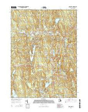 Chepachet Rhode Island Current topographic map, 1:24000 scale, 7.5 X 7.5 Minute, Year 2015 from Rhode Island Maps Store