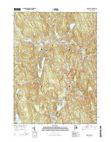 Chepachet Rhode Island Current topographic map, 1:24000 scale, 7.5 X 7.5 Minute, Year 2015