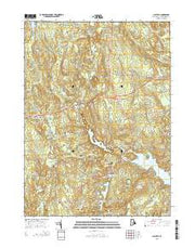 Clayville Rhode Island Current topographic map, 1:24000 scale, 7.5 X 7.5 Minute, Year 2015 from Rhode Island Maps Store