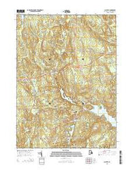 Clayville Rhode Island Current topographic map, 1:24000 scale, 7.5 X 7.5 Minute, Year 2015