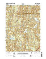 Coventry Center Rhode Island Current topographic map, 1:24000 scale, 7.5 X 7.5 Minute, Year 2015
