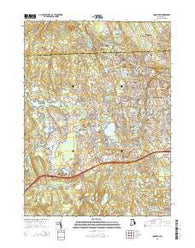 Crompton Rhode Island Current topographic map, 1:24000 scale, 7.5 X 7.5 Minute, Year 2015