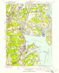East Greenwich Rhode Island Historical topographic map, 1:24000 scale, 7.5 X 7.5 Minute, Year 1942