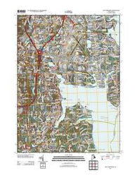 East Greenwich Rhode Island Historical topographic map, 1:24000 scale, 7.5 X 7.5 Minute, Year 2012