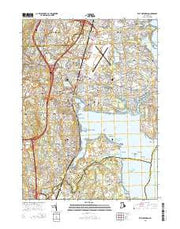 East Greenwich Rhode Island Current topographic map, 1:24000 scale, 7.5 X 7.5 Minute, Year 2015 from Rhode Island Maps Store