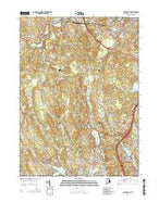 Georgiaville Rhode Island Current topographic map, 1:24000 scale, 7.5 X 7.5 Minute, Year 2015 from Rhode Island Map Store