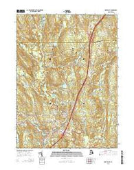Hope Valley Rhode Island Current topographic map, 1:24000 scale, 7.5 X 7.5 Minute, Year 2015