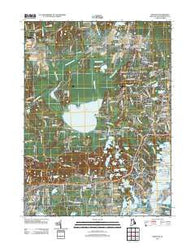 Kingston Rhode Island Historical topographic map, 1:24000 scale, 7.5 X 7.5 Minute, Year 2012