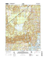 Kingston Rhode Island Current topographic map, 1:24000 scale, 7.5 X 7.5 Minute, Year 2015 from Rhode Island Maps Store