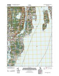 Narragansett Pier Rhode Island Historical topographic map, 1:24000 scale, 7.5 X 7.5 Minute, Year 2012