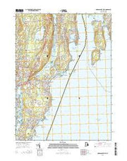 Narragansett Pier Rhode Island Current topographic map, 1:24000 scale, 7.5 X 7.5 Minute, Year 2015 from Rhode Island Maps Store
