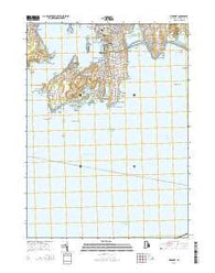 Newport Rhode Island Current topographic map, 1:24000 scale, 7.5 X 7.5 Minute, Year 2015