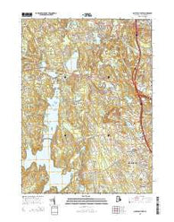 North Scituate Rhode Island Current topographic map, 1:24000 scale, 7.5 X 7.5 Minute, Year 2015