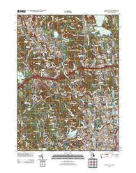Pawtucket Rhode Island Historical topographic map, 1:24000 scale, 7.5 X 7.5 Minute, Year 2012